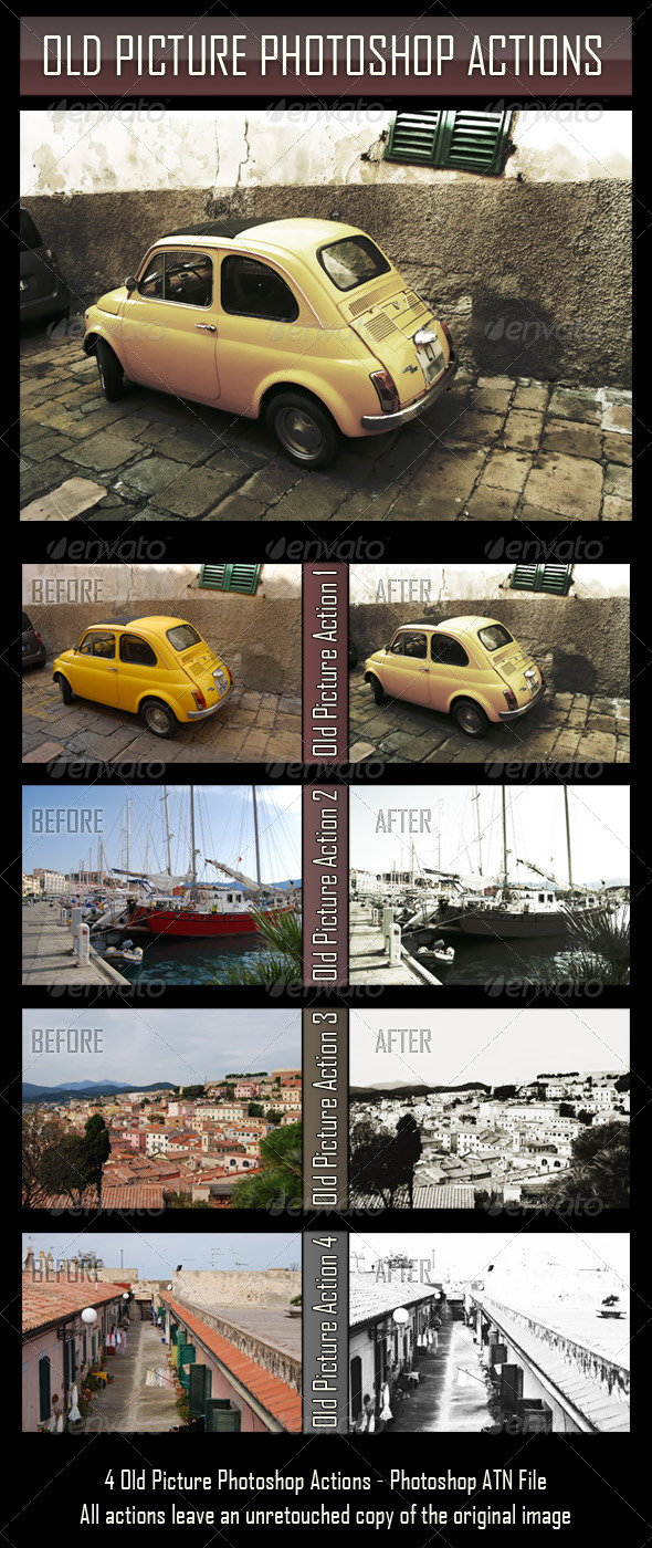 GraphicRiver Old Picture Photoshop Actions 4808670