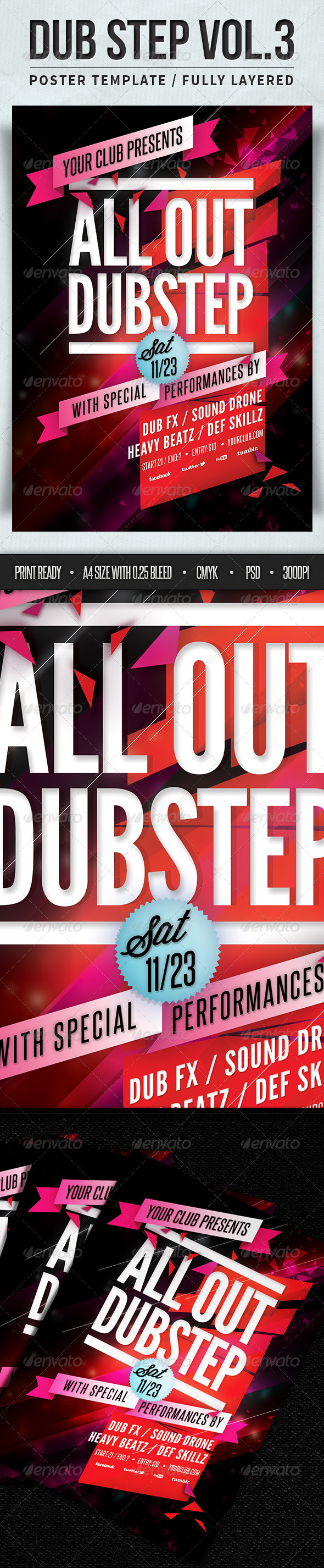 GraphicRiver Dub Step Poster Vol.3 4808740