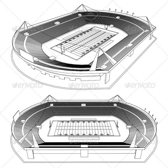 GraphicRiver 3D American Football Stadium 4809018