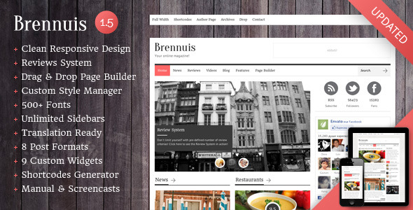 Brennuis - WordPress Magazine/Blog