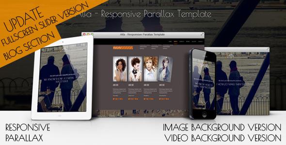 Alfa - Responsive Parallax Template - Creative Site Templates