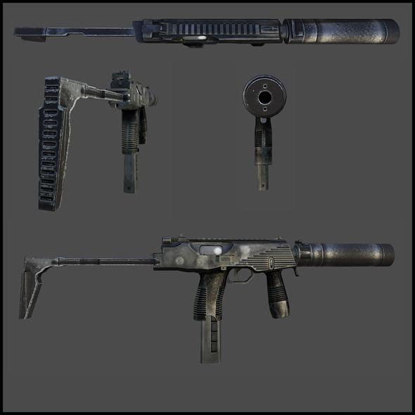MP9 submachine gun - 3DOcean Item for Sale