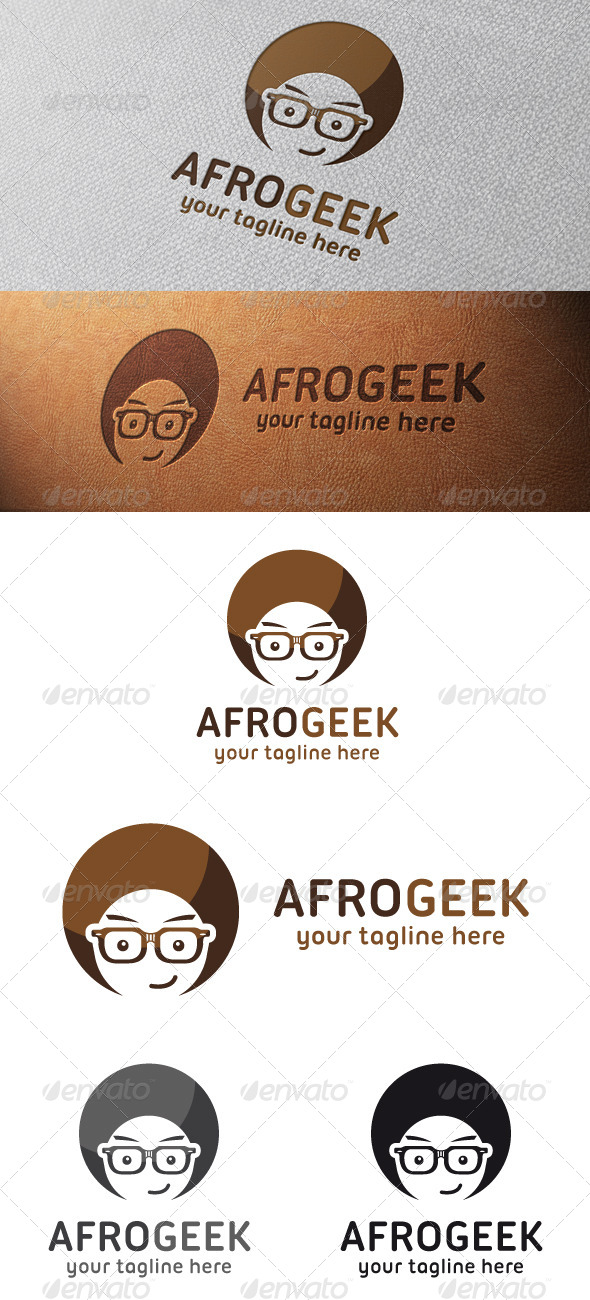 GraphicRiver Afro Geek Logo Template 4810557