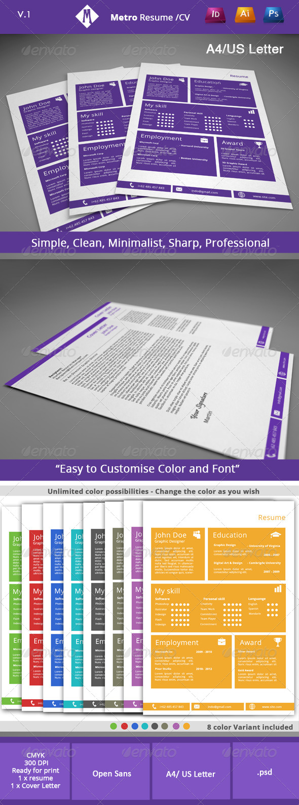 GraphicRiver Metro Resume v1 4741590