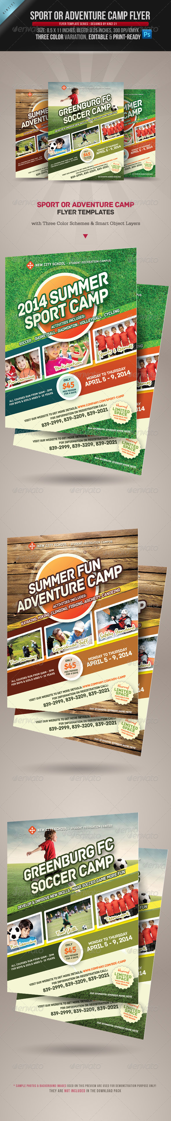 Sport or Adventure Camp Flyers - Sports Events