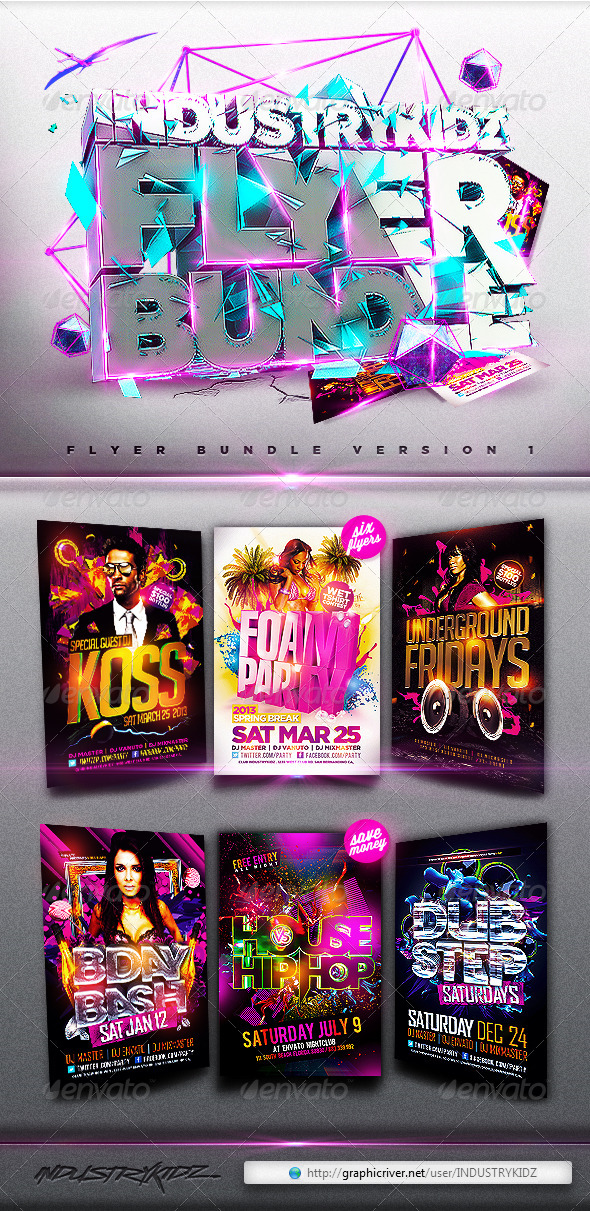 Flyer Bundle v1 - Clubs & Parties Events