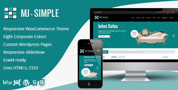 MJ Simple – Responsive WooCommerce theme