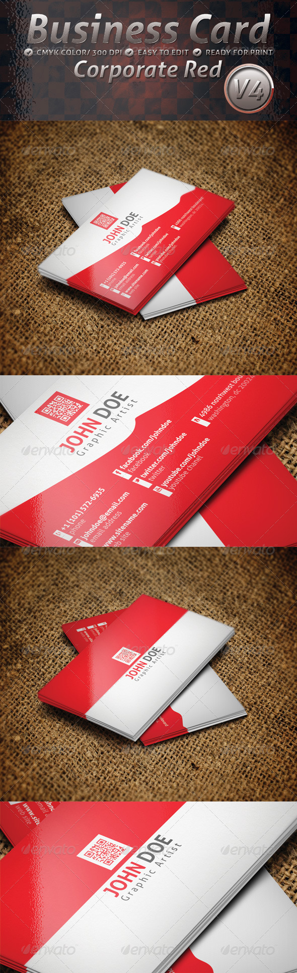 GraphicRiver Business Card Corporate V4 4811672