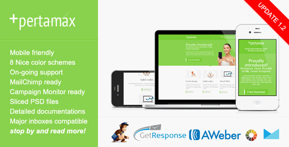 Mobile Friendly HTML Email Template - Pertamax - Email Templates Marketing