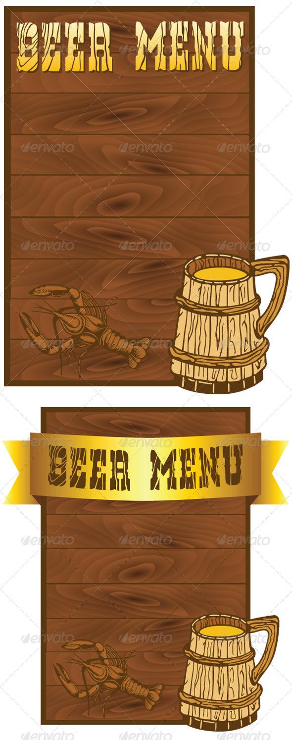 free beer list menu template stock photos graphics. Black Bedroom Furniture Sets. Home Design Ideas