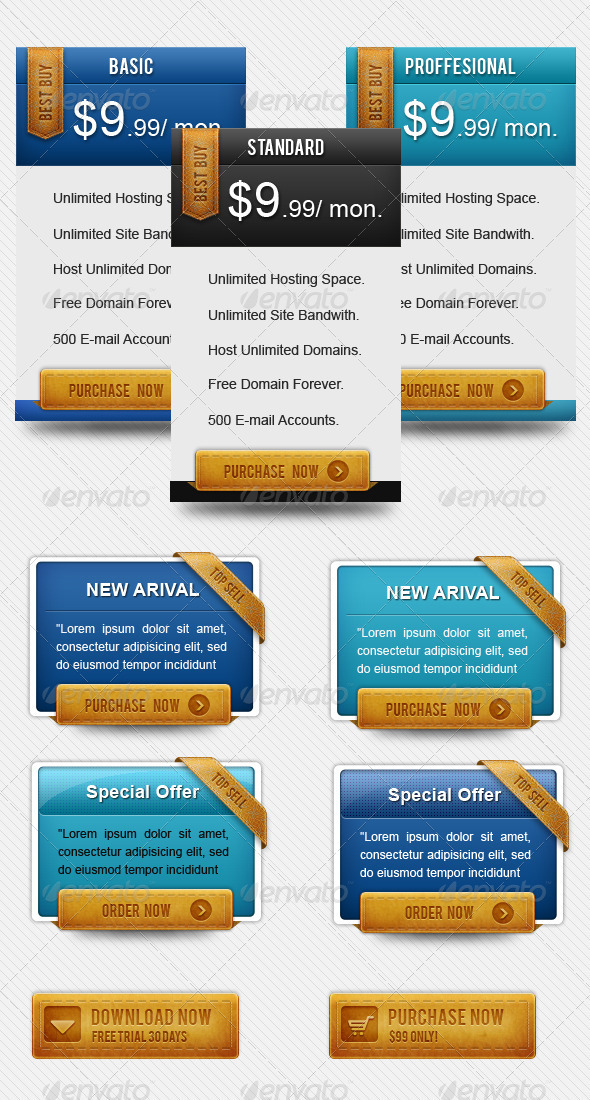 GraphicRiver Modern Pricing Box 500764