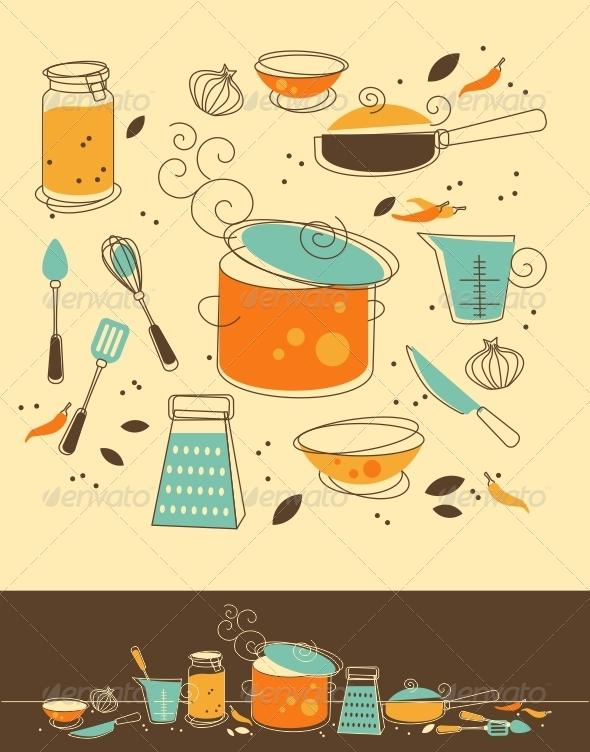 GraphicRiver Kitchen Set 4803196