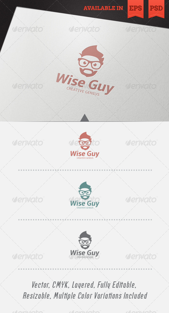 GraphicRiver Wise Guy Logo Template V2 4812416