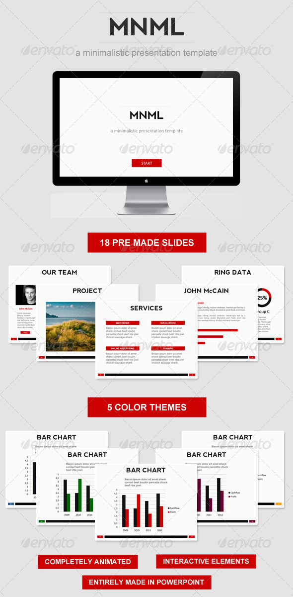 GraphicRiver MNML PowerPoint Template 4812616