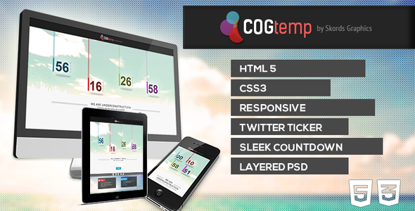 ThemeForest COGtemp Coming Soon Template 4758392