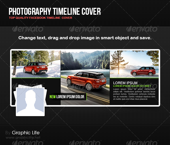 GraphicRiver Photography Timeline Cover 4812709