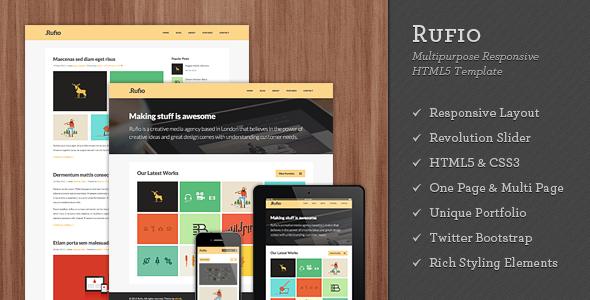 Rufio - 2 in 1 Responsive HTML5 Template (Portfolio)
