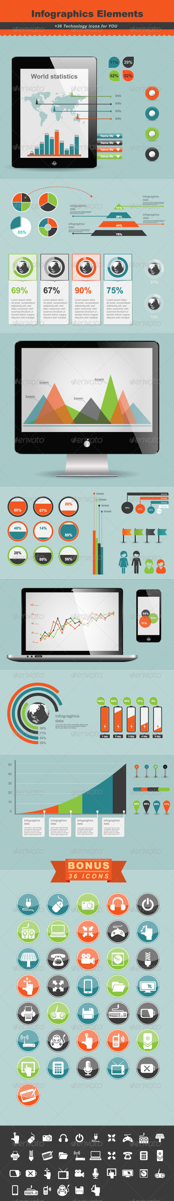 GraphicRiver Technology Infographic Elements 4752335