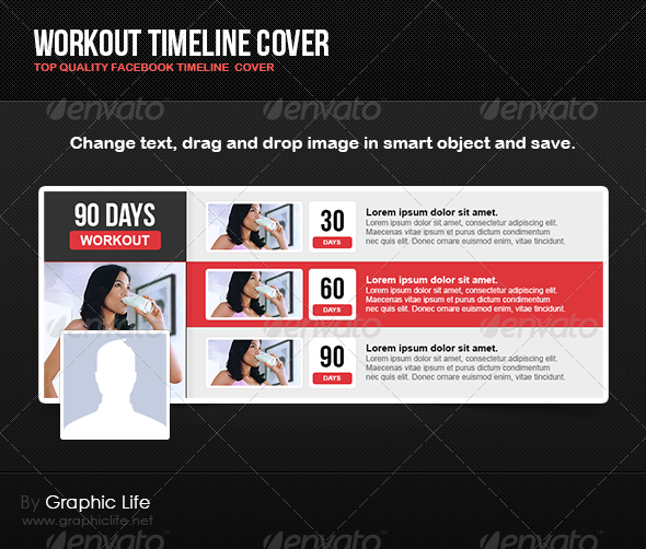 GraphicRiver Workout Timeline Cover 4812743