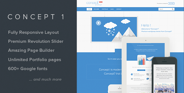 Concept 1 - Modern and Creative Wordpress Theme