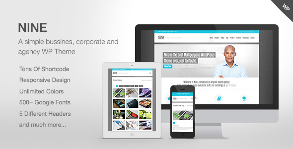 Nine - Responsive Multi-Purpose Theme