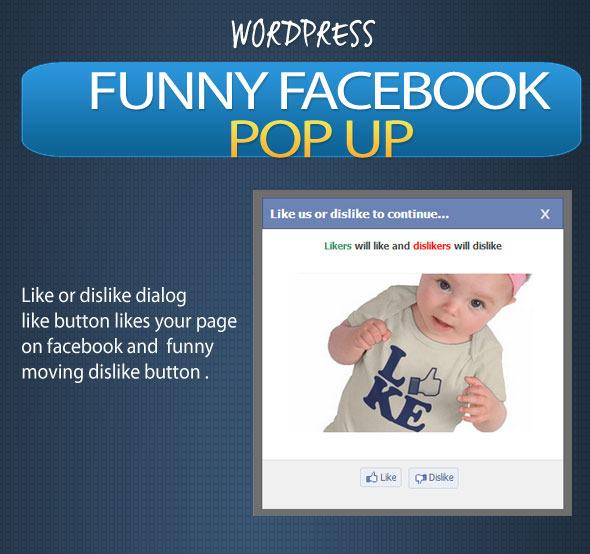 CodeCanyon Funny Facebook Pop-up Facebook Dislike Button 4812948