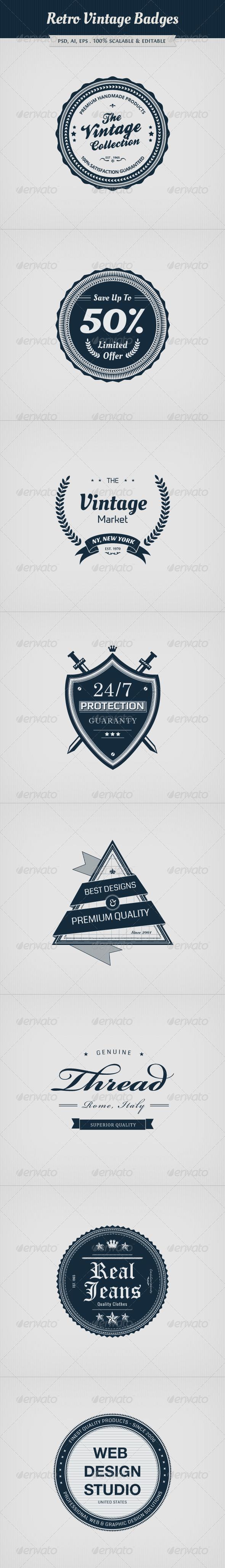 GraphicRiver Retro Vintage Badges 4802197