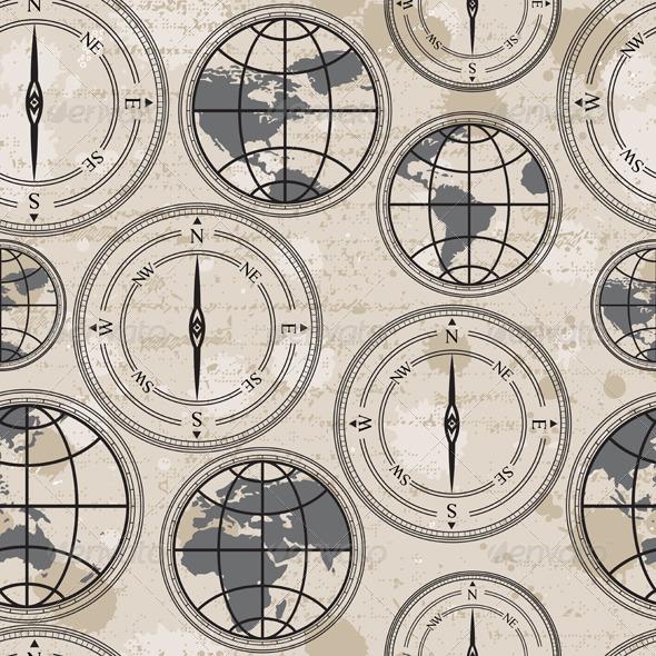 GraphicRiver Retro Globe and Compass 4813274
