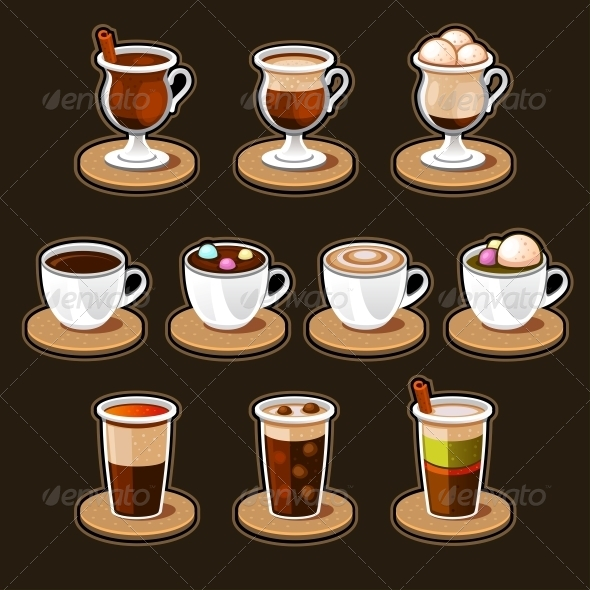 GraphicRiver Coffee and Tea Cup Set 4813316
