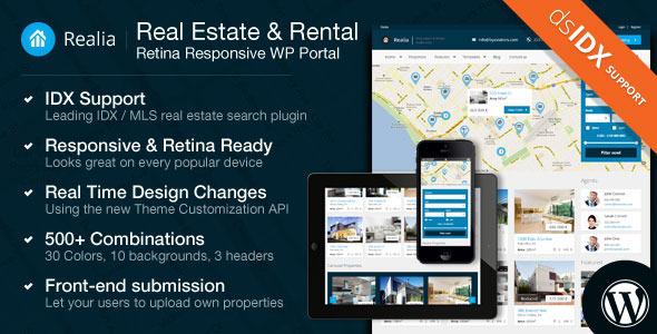 Realia – Responsive Real Estate WordPress Theme (Business) images