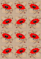 Red Poppies a Light Brown  Seamless Background - PhotoDune Item for Sale