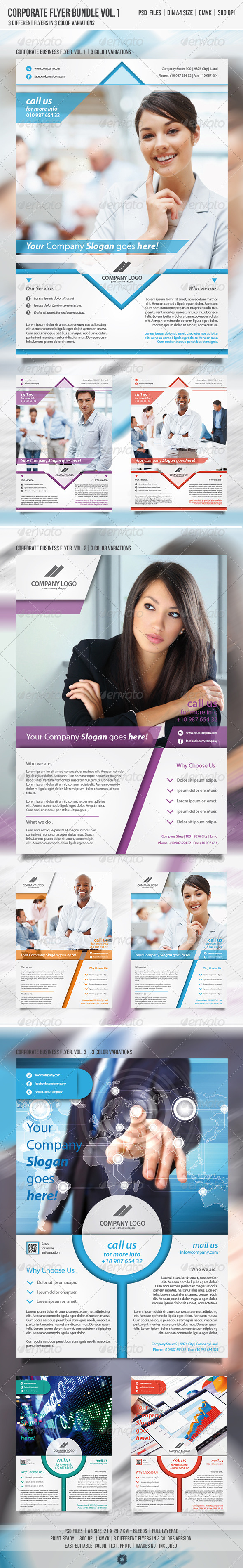 Corporate Business Flyer Bundle vol.1 - Corporate Flyers