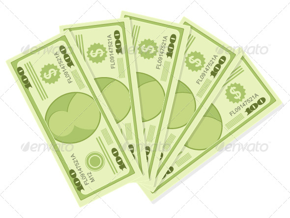 GraphicRiver One Hundred Dollars Banknotes 4813998