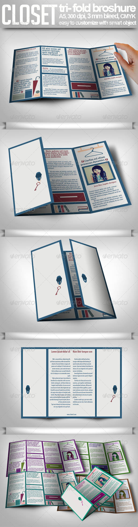 GraphicRiver Tri-fold Closet Brochure 4814448
