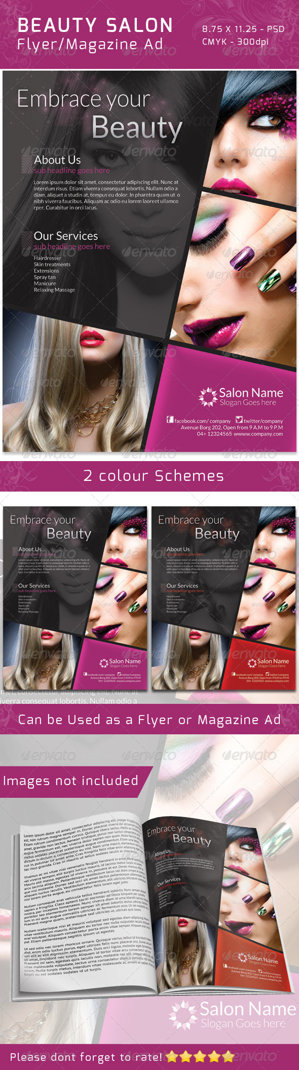 Classy Salon Flyer/ Magazine Ad - Commerce Flyers