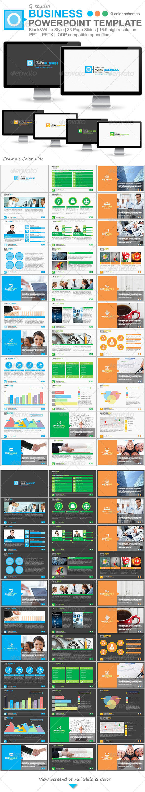 GraphicRiver Gstudio Business Powerpoint Template 4814797