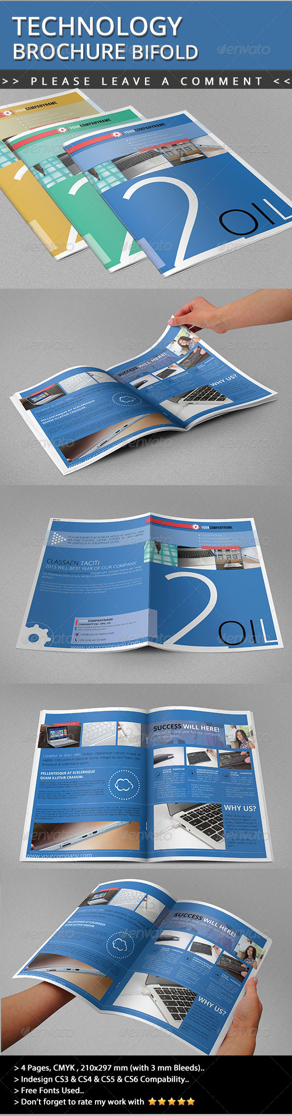 GraphicRiver Technology Brochure Bifold 4814933
