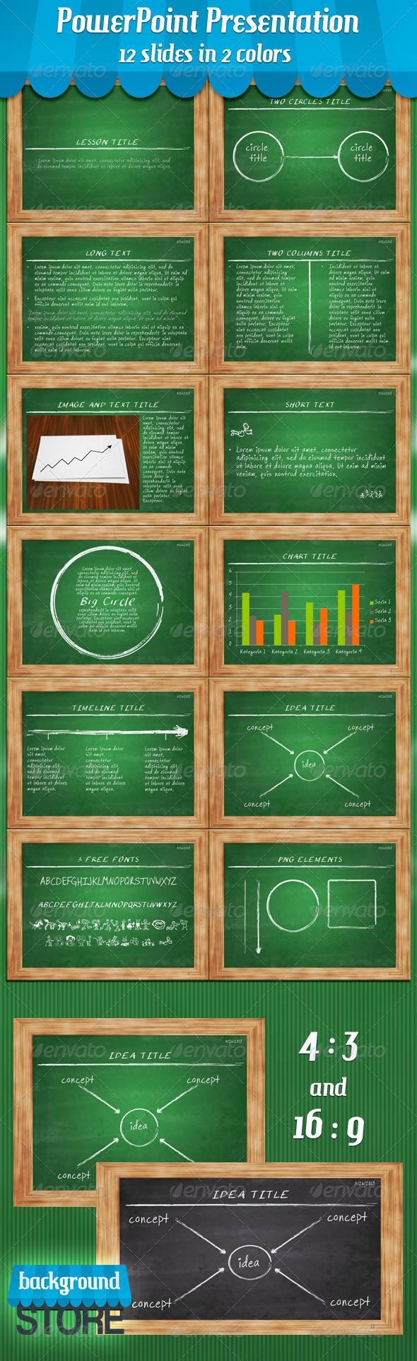 GraphicRiver Blackboard PowerPoint Presentation 4815136