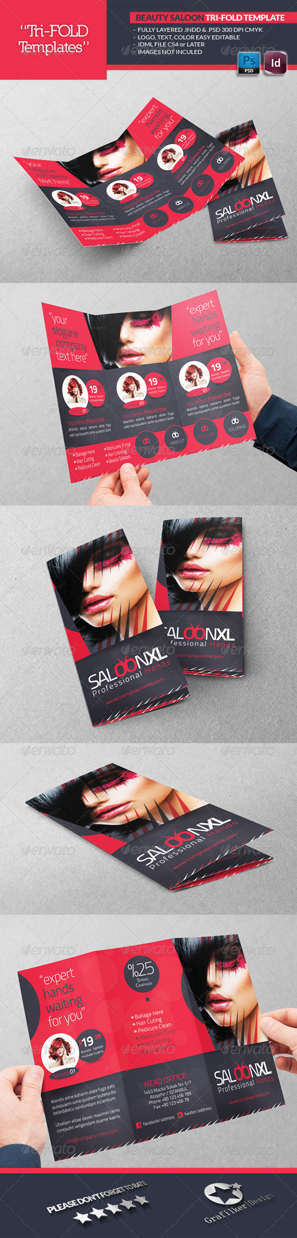 GraphicRiver Beauty Saloon Tri-Fold Template 4563729
