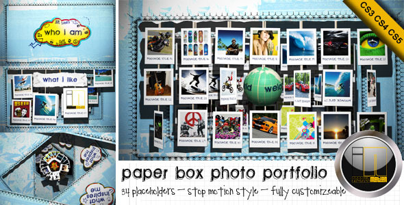 Paper Box Photo Portfolio Profile
