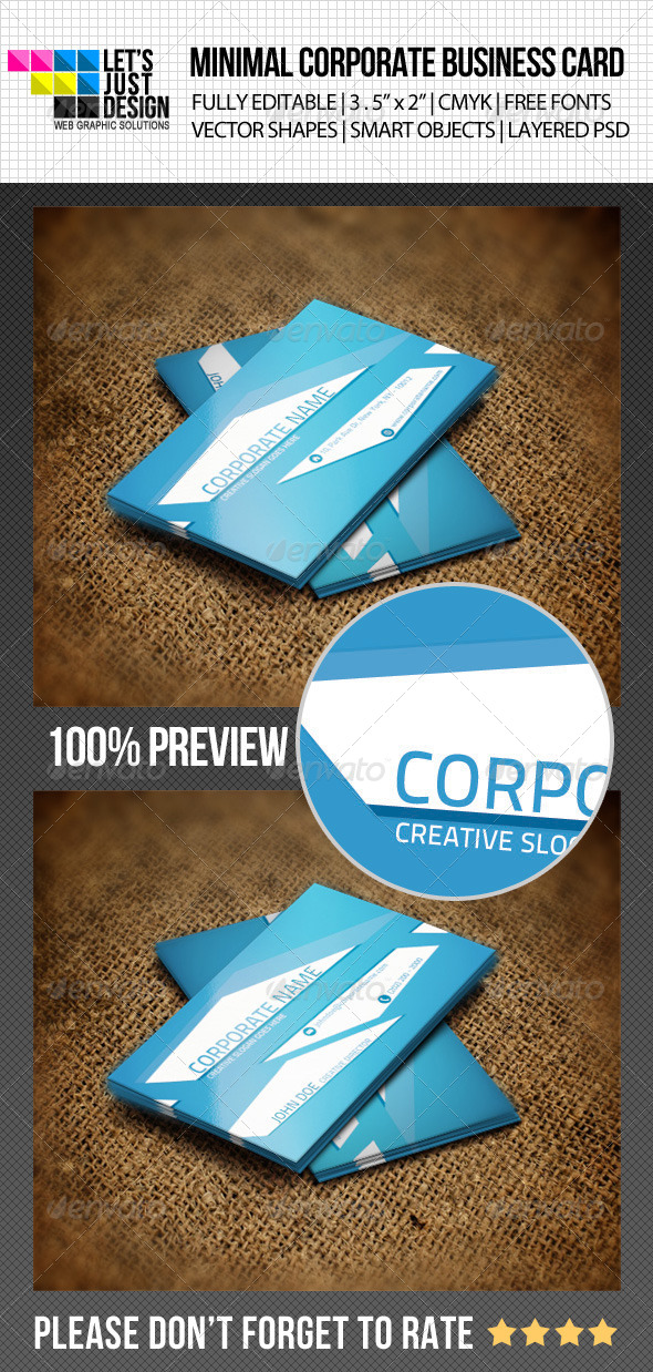 GraphicRiver Minimal Corporate Business Card 4734350