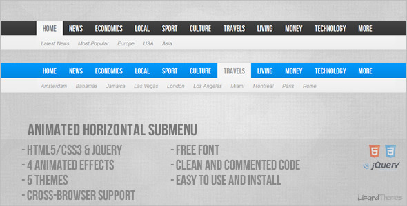 CodeCanyon Animated Horizontal Submenu 4807401
