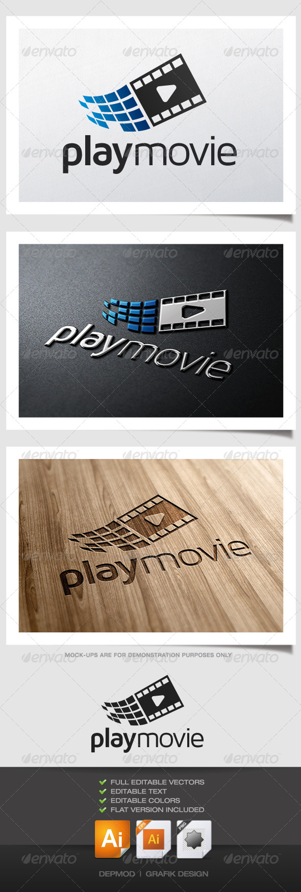 GraphicRiver Play Movie Logo 4815512