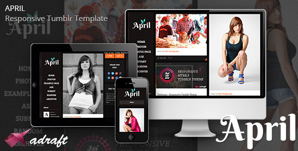 ThemeForest April Responsive Tumblr Theme 4815525