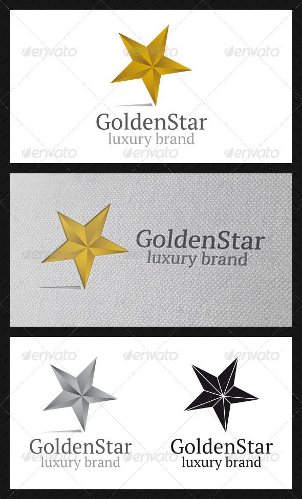 GraphicRiver Golden Star Logo Template 4815826