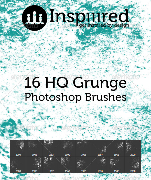 GraphicRiver 16 High Quality Grunge Photoshop Brushes 4815832