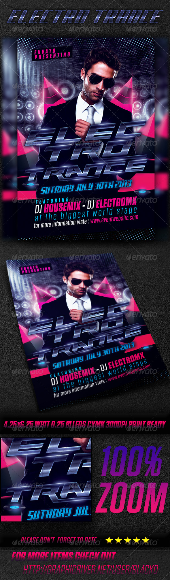 GraphicRiver Electro Trance Flyer 4727259