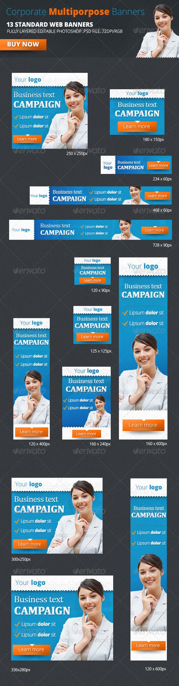 GraphicRiver Corporate Multiporpose Banners 4815922