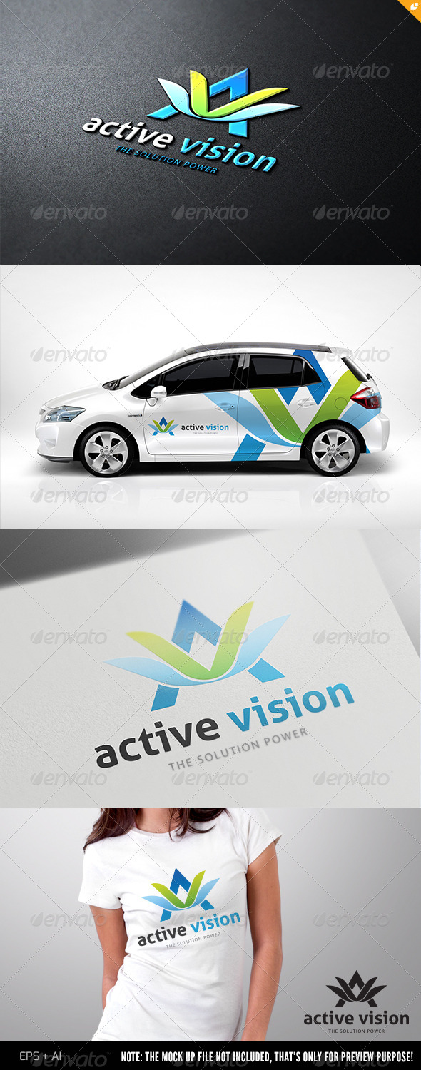 GraphicRiver Active Vision Logo 4815981