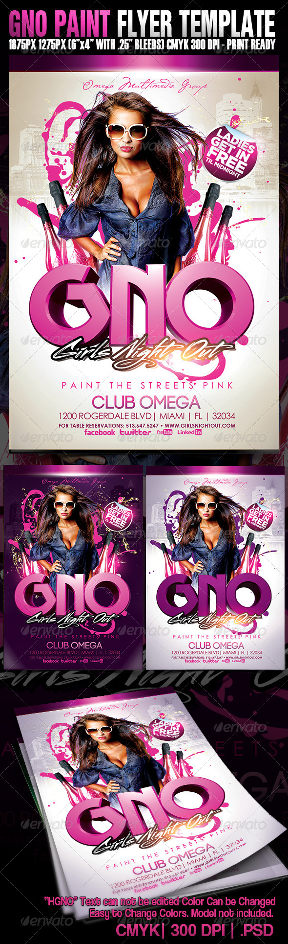 GNO Paint The Streets Pink - Events Flyers